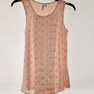 Light Pink Polka Dot Tank Top